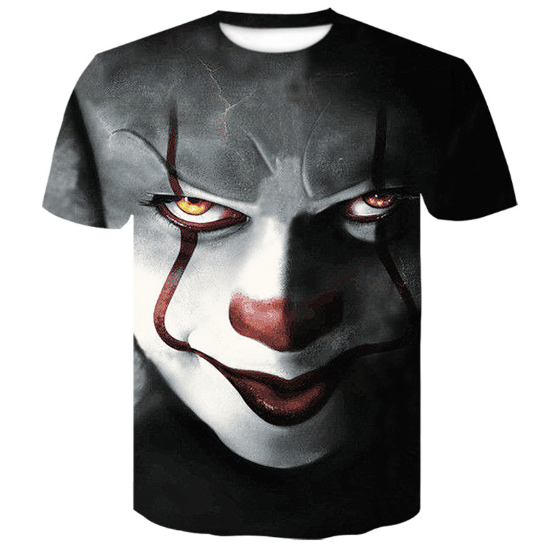 3D   T     Shirt   Men New clown poker print funny Short sleeve tshirt men/woman Brand clothing Polyester men's   t  -  shirts   in large sizes