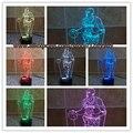 Lamparas de mesa de niño dormitorio de la lámpara de mesa de noche moderna de LA NBA baloncesto Kobe Bryant 3D LLEVÓ la Luz de La Lámpara de Luz de La Noche de 7 Colores