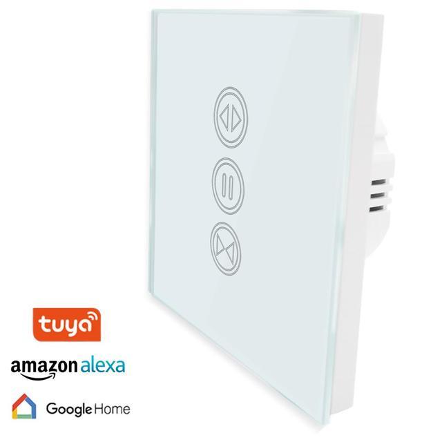 Interruptor táctil ciego WiFi para el obturador del rodillo de la cortina eléctrico pantalla solar Tuya App Control remoto trabajo con Google Home Alexa Echo