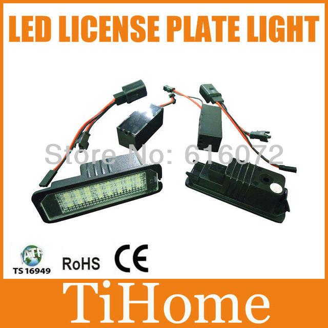 Free envio vw gti golf6/passat cc/passat b6 4d/new beetle/conduziu a lâmpada da placa de licença canbus, 100% luzes da placa de licença
