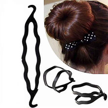 4pcs Plastic Magic easy Bun Hair Braid Tool Holder Clip hair style maker Braiders Styling Tool(China)