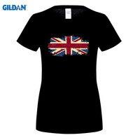GILDIAN United Kingdom Quốc Kỳ womens T shirts Casual Short Sleeve Vương Quốc Anh Mùa Hè Trò Chơi Người Hâm Mộ Cổ Vũ Tops Tees