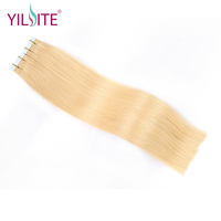 Yilite 14inch Double Sided Tape In Human Hair Extensions 20pcs Double Drawn European Remy Hair Extensions 8# 22# Freeshipping