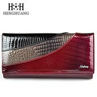 HH Vrouwen Portefeuilles Brand Design Hoge Kwaliteit Lederen Portemonnee Vrouwelijke Hasp Mode Alligator Lange Vrouwen Portefeuilles En Portemonnees