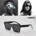 2017 new fashion men cool metal forma quadrada estilo lambda óculos de design da marca óculos de sol oculos de sol masculino 58018