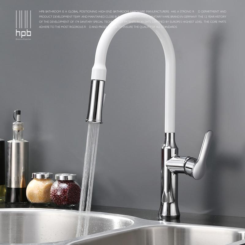 Contemporary Chrome Finish Brass Pull Out Sprayer Single Handle Swivel Spout Vessel Sink Kitchen Faucet Deck Mount Mixer Tap стоимость