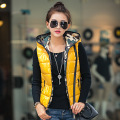 Korean Casual New Vest Women Outerwear Hooded Camouflage Printing Patterns Fashionable Thin Slim Women Vest Jacket Plus Size
