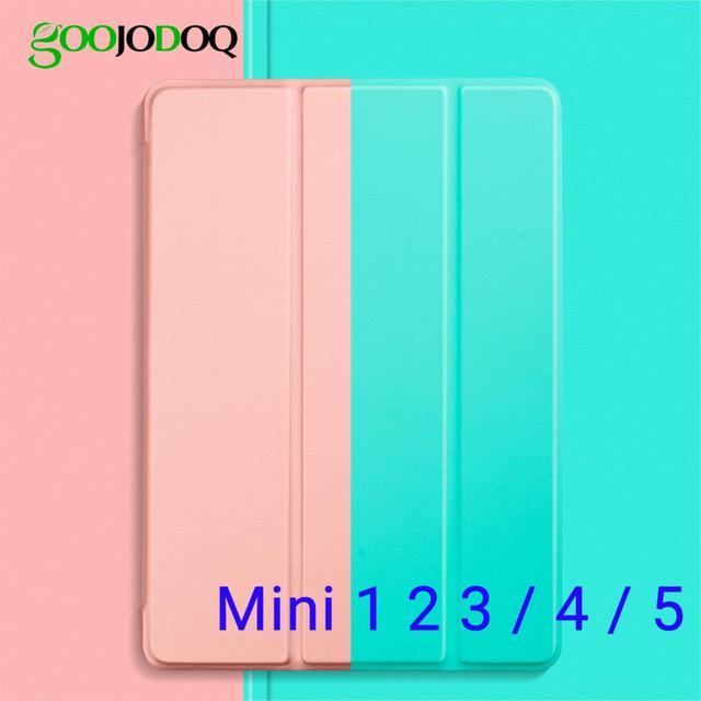 Чехол для iPad Mini 4 Mini 2 3 1 Mini 5 2019 чехол, GOOJODOQ ультра тонкий легкий смарт-чехол Trifold Stand мягкий чехол из ТПУ