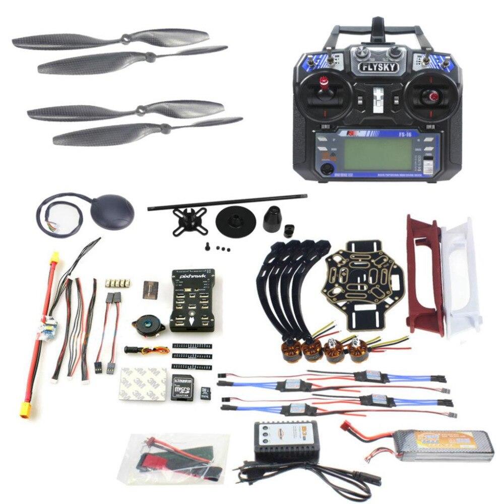 F02192-AC DIY FPV Drone Quadcopter 4-essieu Avions Kit 450 Cadre PXI PX4 Flight Control 920KV Moteur GPS FS-i6 Émetteur