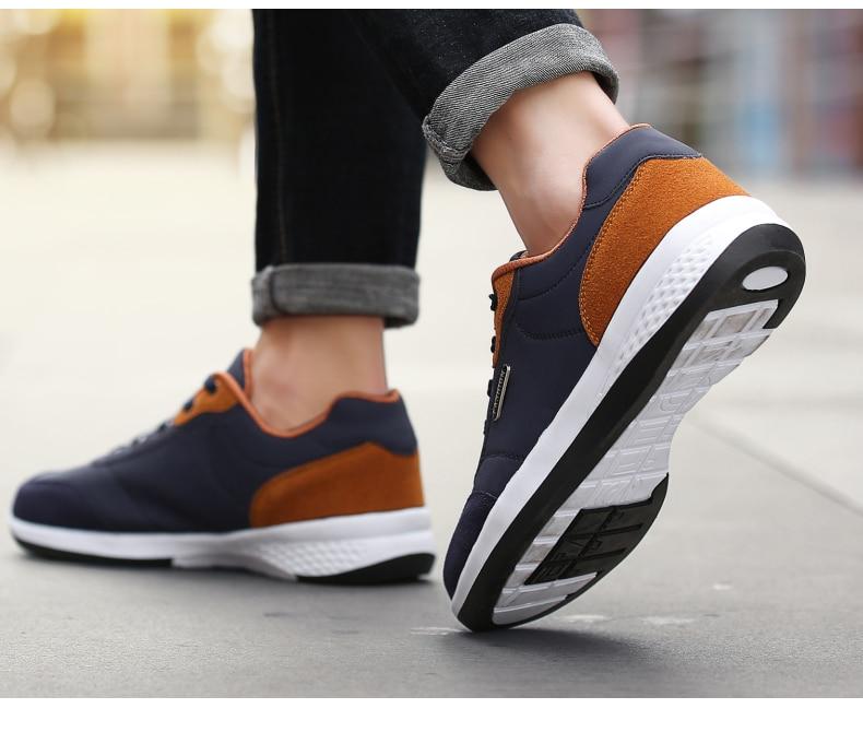 HTB1hUrrFpuWBuNjSszbq6AS7FXaP 2019 Autumn New  Men Shoes Lace-Up Men Fashion Shoes Microfiber Leather Casual Shoes Brand Men Sneakers Winter Men FLats