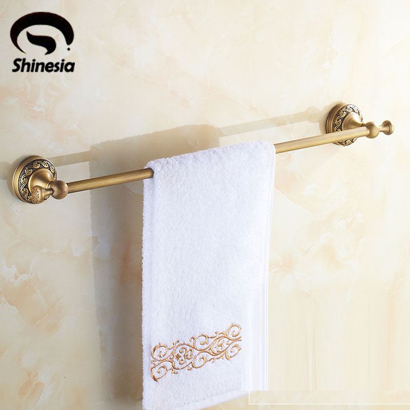 Classical Solid Brass Bathroom Towel Bar Single Bar Towel Holder Rack Wall Mounted Antique Brass taotaoqi luxury sunglasses women designer brand fashion rimless sun glasses female uv400 vintage eyewear oculos de sol