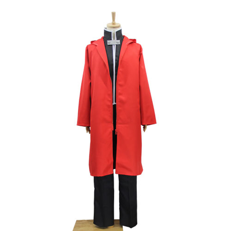 Anime Fullmetal Alchemist Cosplay Costume Edward Elric Red Cloak Jacket/Coat/Cloak/Trench Cosplay Clothes For Adult