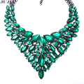 8 colors good quality full crystal fashion necklace collar big choker crystal Necklaces & Pendants maxi statement necklace