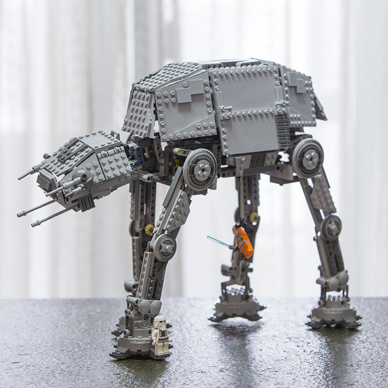LEPIN 05050 Star Plan Series Motorized Walking AT-AT Model Building Blocks Classic Enlighten Toys for Children10178 75054 05050 lepin star wars motorized walking at at model building blocks classic enlighten figure toys for children compatible legoe