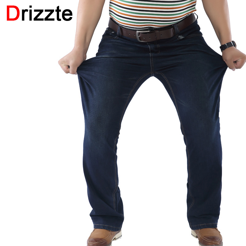 Drizzte Mens Stretch Plus Size 36 38 40 42 44 46 48 Dei Jeans Blu Denim Jean Relax Pantaloni Da Lavoro pantaloni