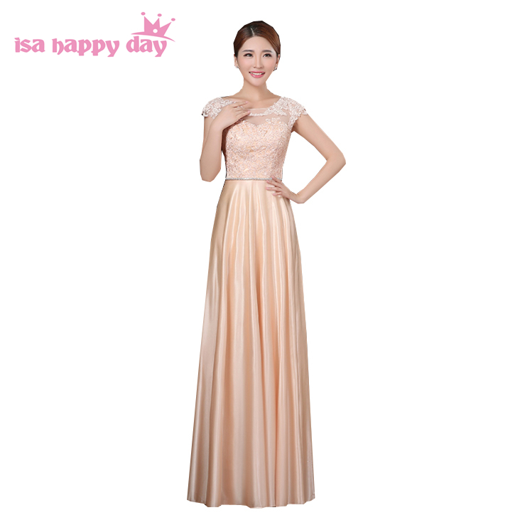 bridesmaid     dresses   2019 floor length sleeveless   bridesmaids     dress   gown long formal champagne gowns for wedding guests H2913
