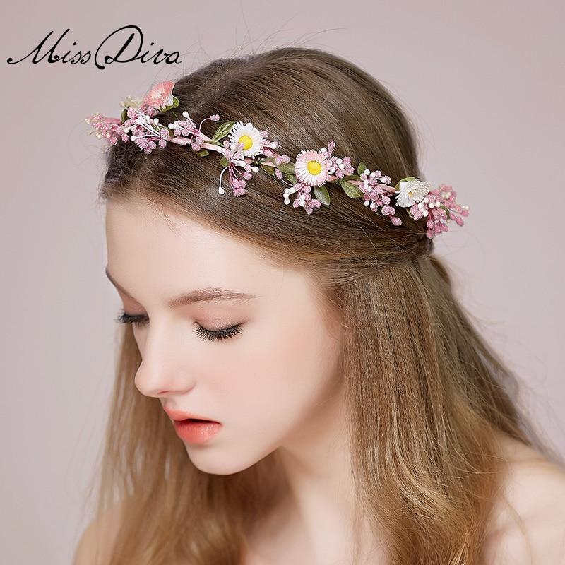 2015 Wedding Lovely Bride Garland Hair Accessory Flower Circle handmade Hair  Band Marriage Accessories Jewelry abd70dc8b4e