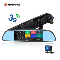 TOPSOURCE DVR автомобильное зеркало GPS 3g 6,86 Android 5,0 регистраторы Full HD 1080p видео Регистраторы двойной Камера DVR Оперативная память 1 ГБ Регистратор