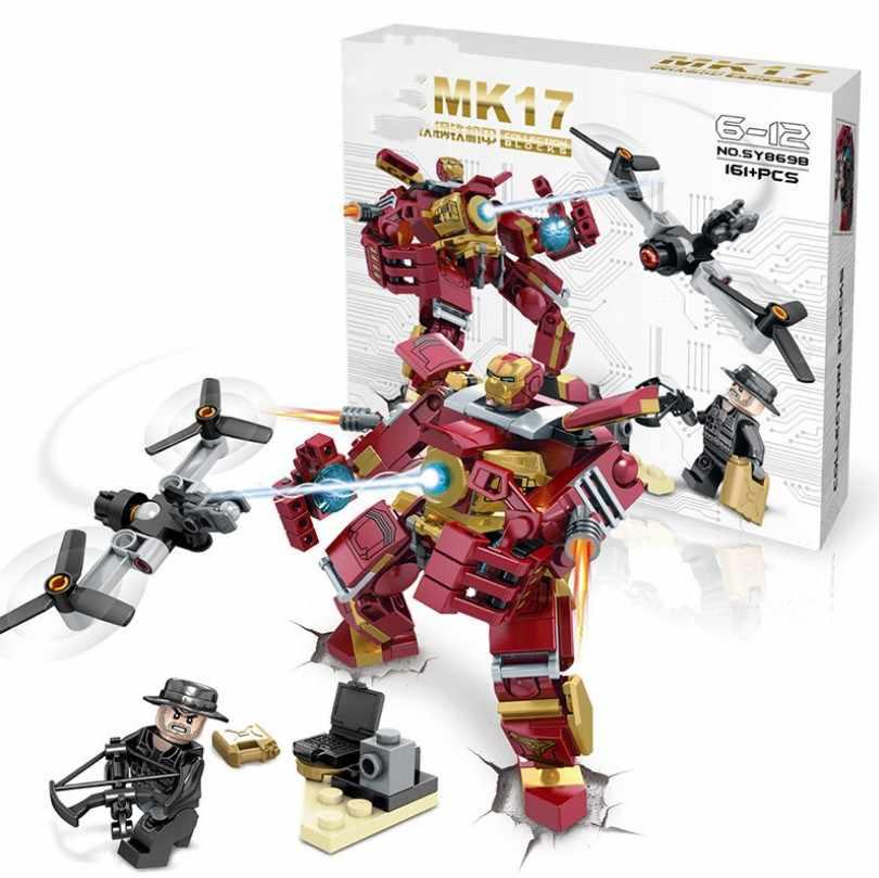 Senbao SY869 Ferro-Guará MK15 MK17 MK38 MK39 Anti-Mech Robot Building Blocks Marvel Hulk Blocos de Construção DIY