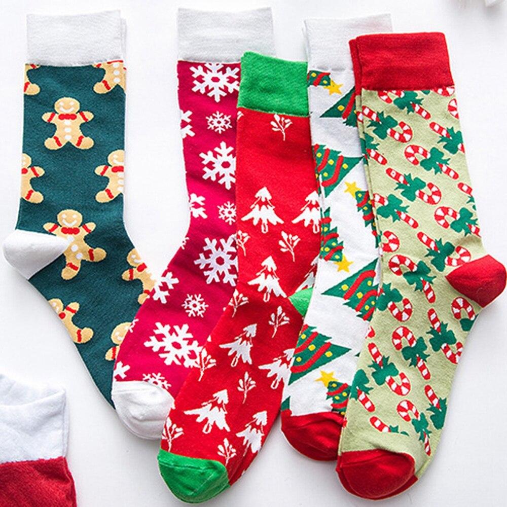 EIE 2019 Christmas Socks Women Cartoon Funny Cute Winter Female & Hosiery Cotton Square Foot New Year Personality Socks