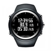 GPS Sports Watch Professional Outdoor Hiking Backlight Waterproof Smart Bracelet Pace Speed Calorie Running Black For Men GIFTS