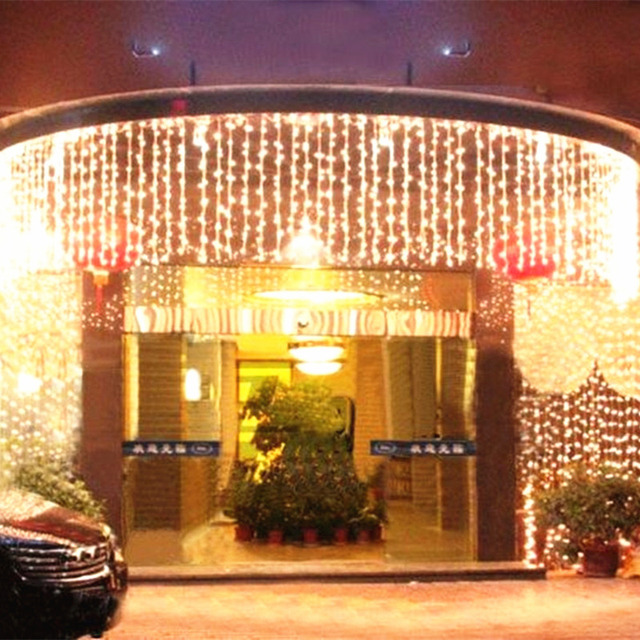 10 x 0.65M 320 LED Outdoor Home Warm White Christmas Decorative xmas String Fairy Curtain Garlands Party Lights For Wedding