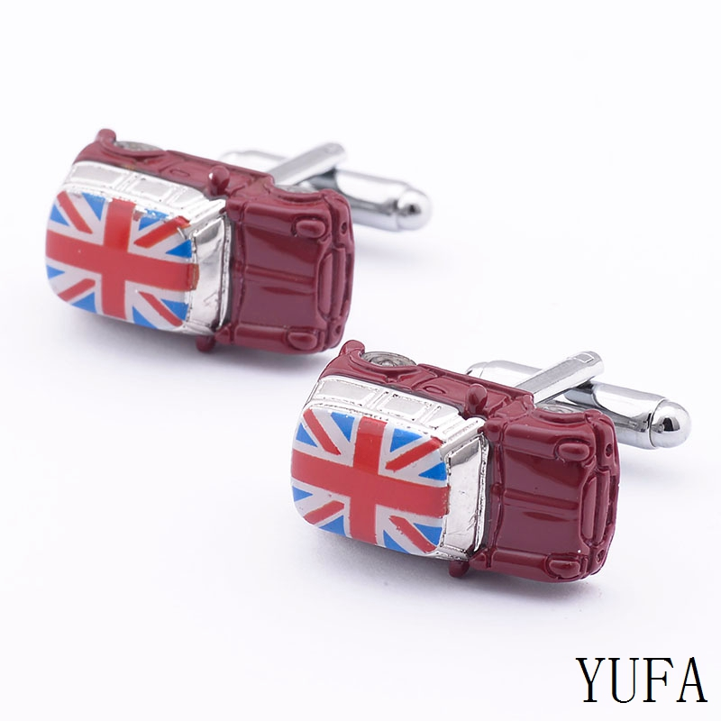 Free shipping Fancy Mens Cuff Links New 3D Red Car CUFFLINKS for shirt