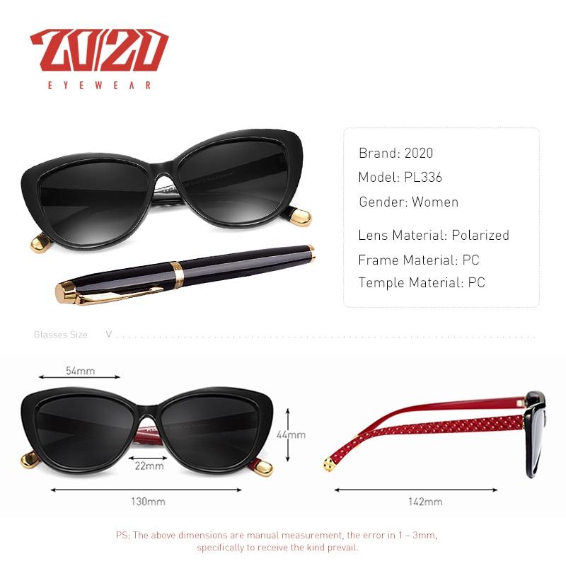 20 20 Mulheres de Design Da Marca Óculos Polarizados Óculos de Sol Do olho  de Gato Óculos de Sol Feminino Estilo Retro Shades Óculos Oculos Feminino  PL336 ... 7e497350dc