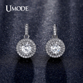 UMODE Latest Halo 5mm 0.5ct CZ Rhodium / Rose Gold Plated Drop Earrings Jewelry for Women Boucle D'oreille Brinco Anillos UE0198