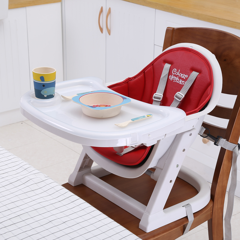 Gentil Leather Cushion Portable Adjustable Baby Kids Booster Seats Highchair High Chairs  Dinner Chairs Feeding Chairs For