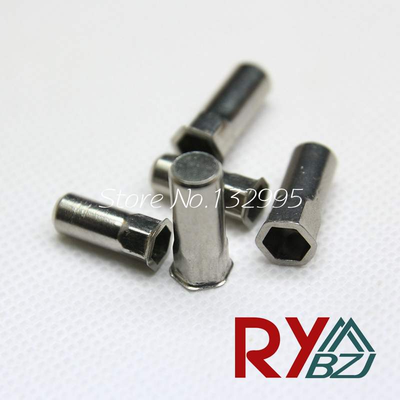 M4 M5 M6 M8 Stainless Steel Reduce head Hex rivet nut/ Sealed Insert nut/Blind rivet nut/Enclosed rivet nut SSHRH008