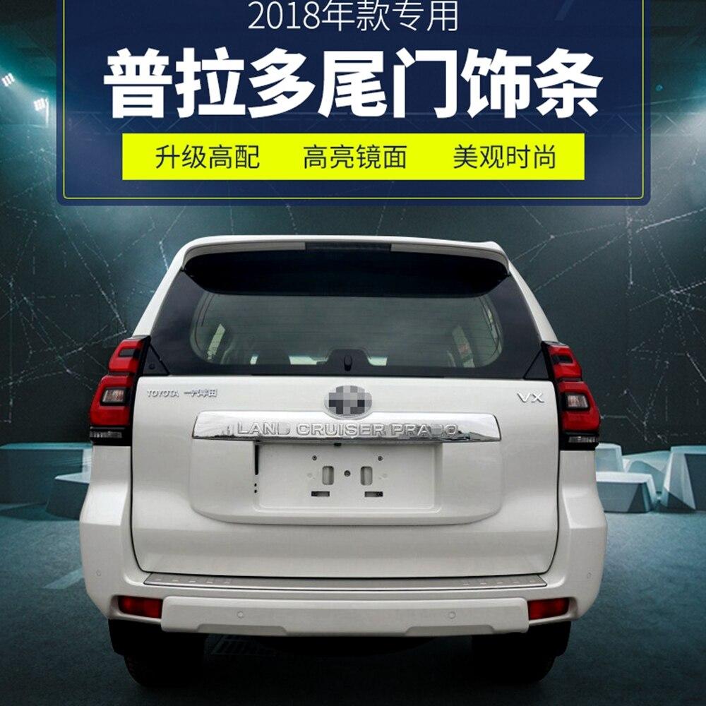 SHCHCG Auto extérieur ABS Chrome arrière couvercle de coffre décoration 1 pièces accessoires de voiture pour Toyota Cruiser Prado FJ150 FJ 150 2018