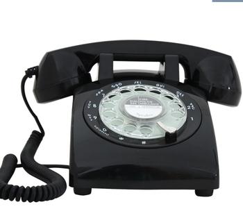 Klasyczne antyczne telefony antyczne telefony obrotowe pokrętło obrotowe Dialpad CT-307 tanie i dobre opinie BINYEAE Przewodowe 1951 antique  antediluvian technology