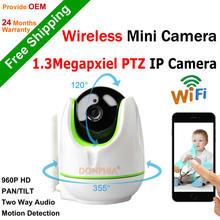 960P Wifi Wireless IP Camera Onvif P2P Remote view PTZ CCTV Camera 1.3MP IR night vision PAN/TILT Two way audio motion detect
