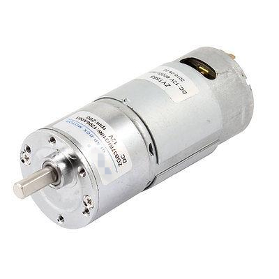 The Highest Quality 12V 6mm Dia Shaft High Torque Gearmotor 2 Pins Magnetic 200RPM Gearbox DC Gear Motor ZGB37RH