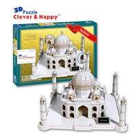 Candice guo 3d puzzle diy spielzeug papier gebäude modell montieren handarbeit spiel taj mahal Indien berühmte Architektur geburtstagsgeschenk 1 stück