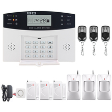 Saful Top Quality Wireless GSM & Home Security LCD Display Burglar Alarm Systems Auto Dialing Dialer SMS Call