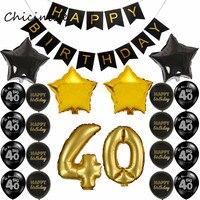 Chicinlife 1 satz 30 40 50 60 Glücklich Geburtstag Banner Sterne Anzahl Ballon Geburtstag Party Dekoration Lieferungen