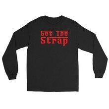 Sugarbaby Get The Strap Red Logo Long Sleeve Sweatshirt  Hip Hop Eminem Kamikaze Rap merch Slim Shady Recovery Revival Jumper
