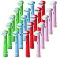 20 unids/5 lotes Reemplazo Cabezas de cepillo De Dientes Eléctrico Oral B EB-10A Niños Niño Cabezas de Cepillo de Dientes Higiene Bucal Cuidado de los dientes Limpios
