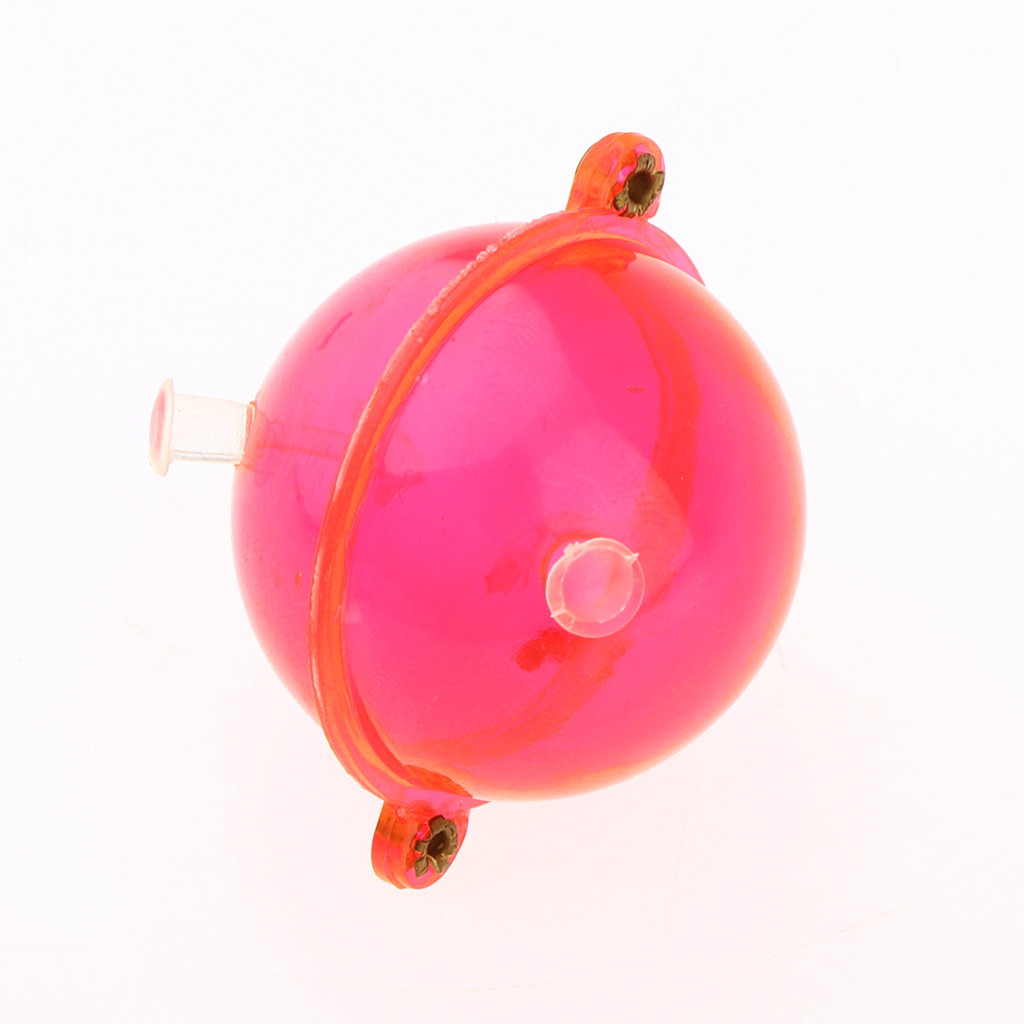 5pcs/set Fishing Float ABS Plastic Balls Clear Round Fishing Bobber Floats Buoy Airlock Strike Indicators Red Tackle Accessories