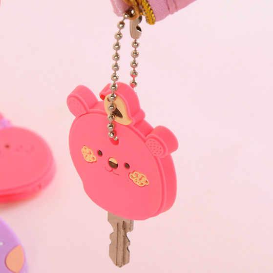 1 ชิ้น/ล็อตใหม่ Kawaii การ์ตูนสัตว์พวงกุญแจพวงกุญแจน่ารักแฟชั่นของขวัญโรงเรียนอุปกรณ์