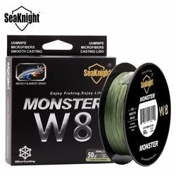 SeaKnight MONSTRO W8 Vertentes Trançada Linha De Pesca 500 M 8 Wide Angle Tecnologia Multifilament Braid PE Linha de Água Salgada 15 20 30 50 100LB