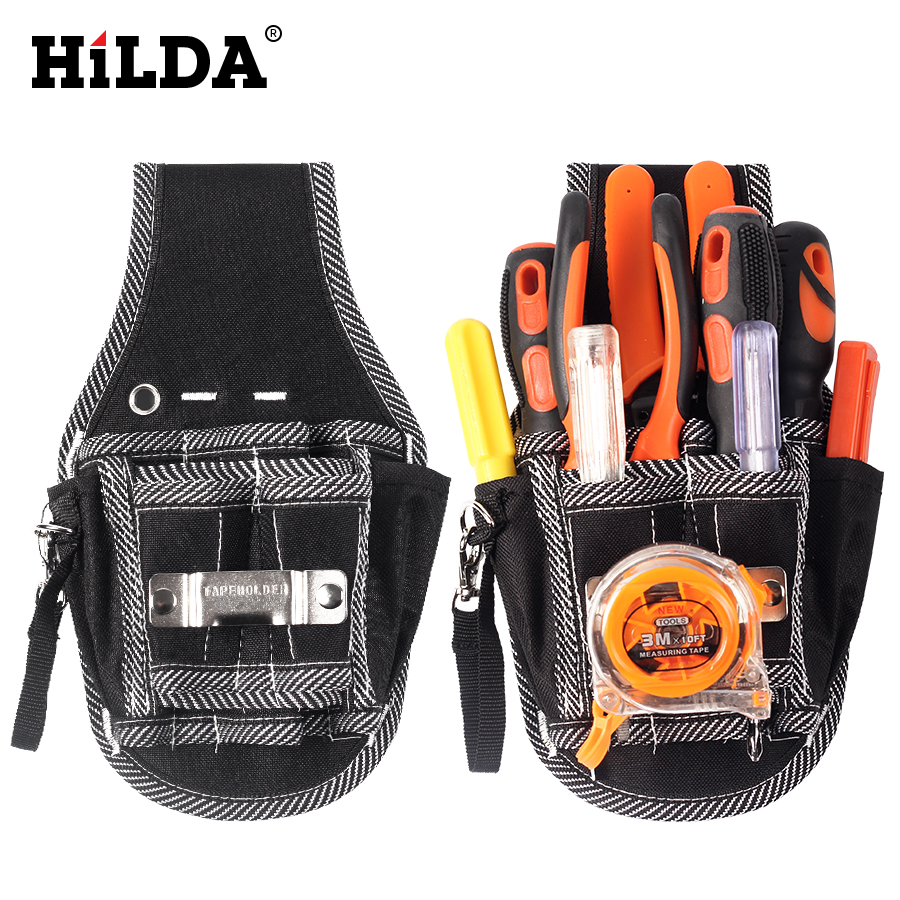 HILDAMultifunction Durable Hardware Mechanic Canvas Tool Bag Electrician Canvas Tool Bag Belt Utility Kit Pocket Pouch Tool Bag paul rosenberg audel electrician s pocket manual