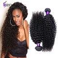 ¡ CALIENTE! 7A Malasio Rizado Rizado Armadura Virginal Del Pelo Negro Natural Humano de Remy Hair Bundles Afro Rizado rizado Armadura Del Pelo Humano 3 paquetes