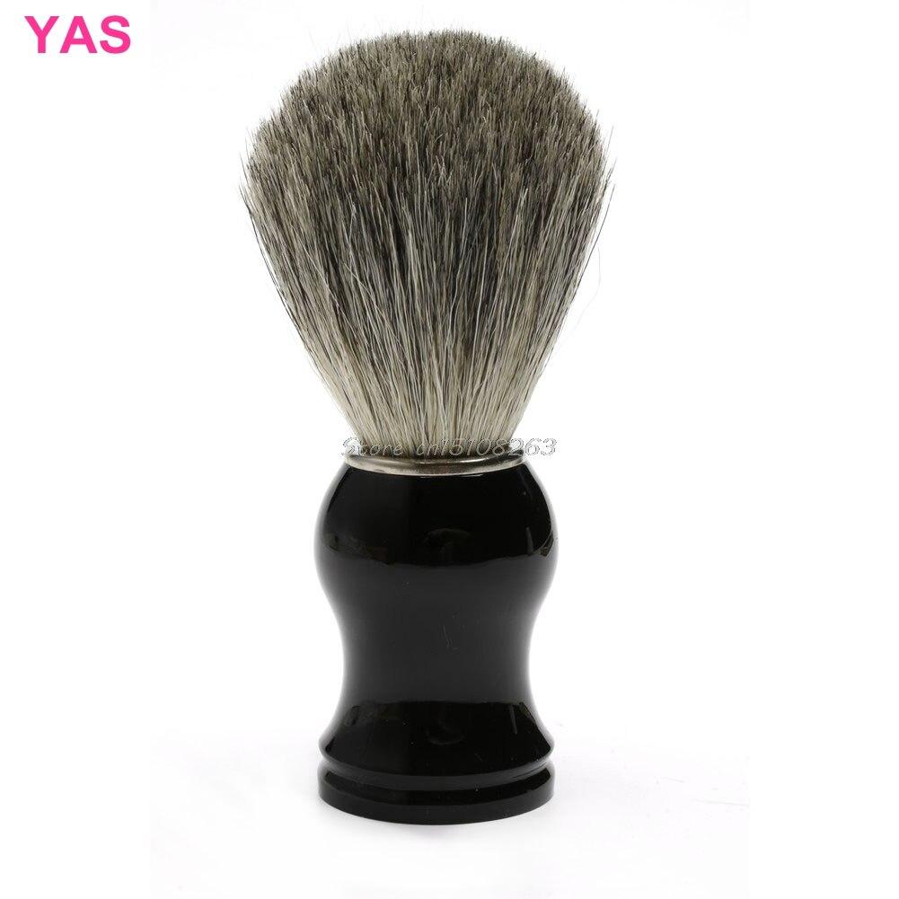 Free Shipping New ABS Handle Men Shaving Beard Brush Badger Hair Shave Black Razor Barber Tool #Y207E# Hot Sale