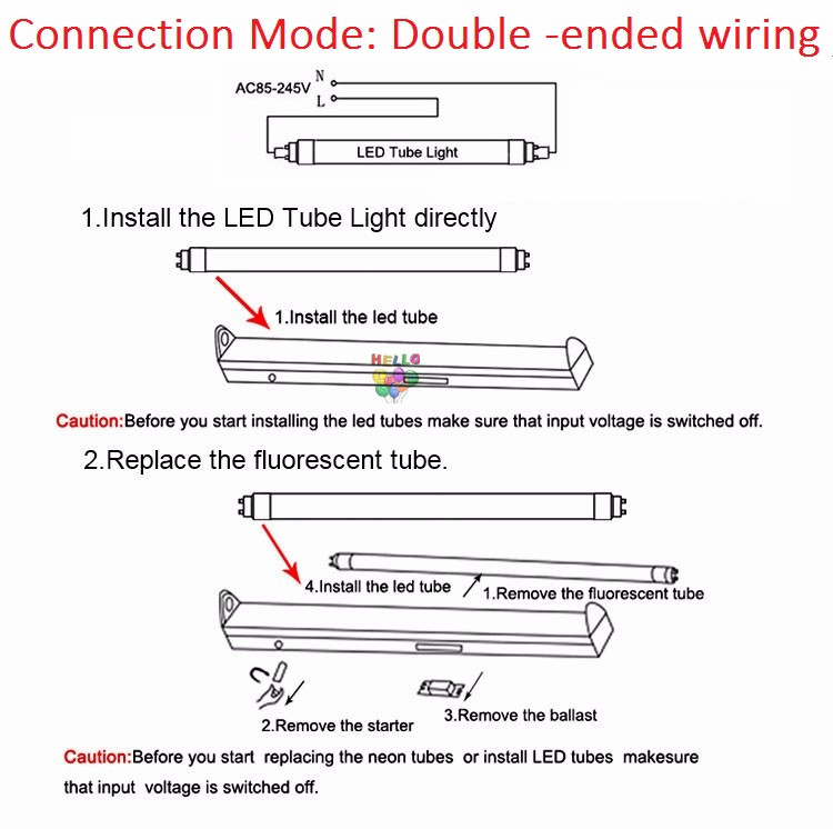 Nice Led Tube T8 Wiring Diagram Ideas - Electrical Circuit Diagram ...