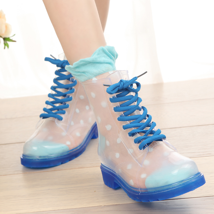 Clear Colored Rain Boots - Yu Boots