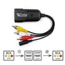 WIISTAR HDMI RCA の AV CVBS コンポーネント変換コンバータボックススケーラー 1080 アダプタケーブルボックス Monito ための L/R ビデオ HDMI2AV HD サポート NTSC PAL