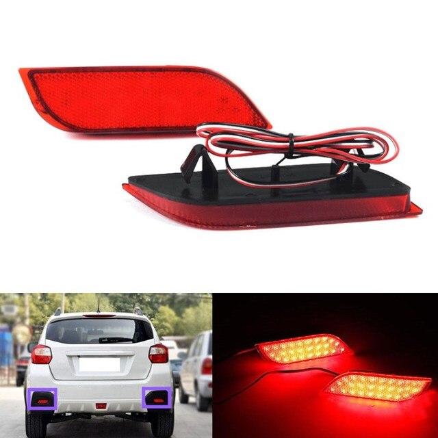 2x Lente 48LED Vermelho traseiro Refletor luz de Freio luz de stop luz de nevoeiro para Subaru WRX Impreza XV Exiga LEVORG Crossover